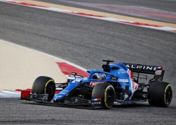 F1 Formula 1 Fernando Alonso Alpine A521 Bahrain testing
