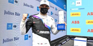 BMW's rookie Jake Dennis takes pole for Valencia race 2