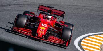 Leclerc fastest as Hamilton stops on track