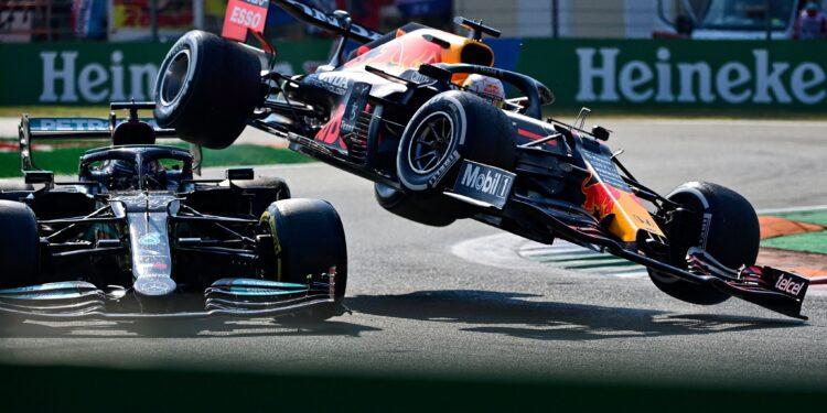 Verstappen penalised for Hamilton clash